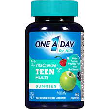 One A Day VitaCraves Teen For Him Multivitamin 60 Gummies